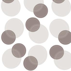 Funky Bubbles (Misty Grey)