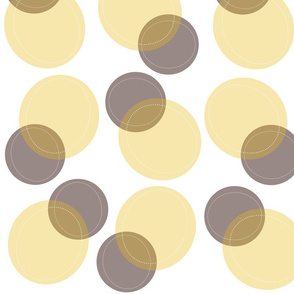 Funky Bubbles (Naples Yellow)