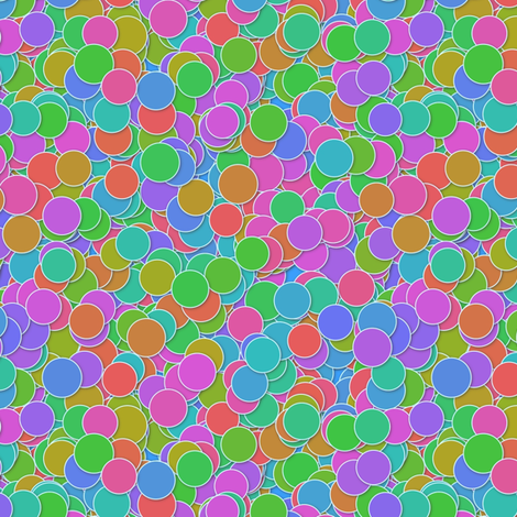 neon polkadiddles fabric by weavingmajor on Spoonflower - custom fabric
