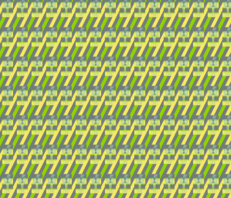 Woofle Birds on Sliding Down Stripes fabric by anniedeb on Spoonflower - custom fabric