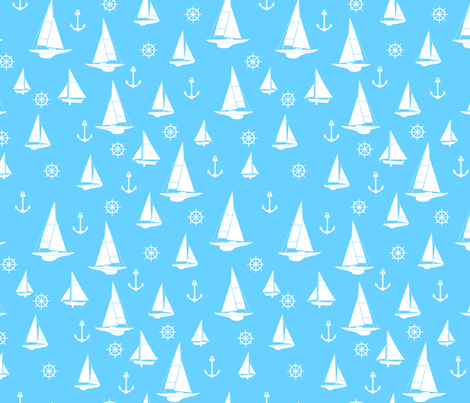 Sailing the Atlantic, you're my hero! fabric by sinelinea on Spoonflower - custom fabric