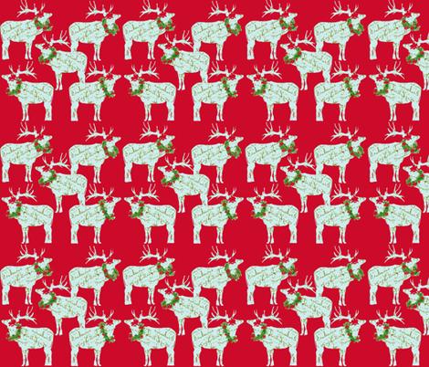 Christmas Reindeer fabric by karenharveycox on Spoonflower - custom fabric