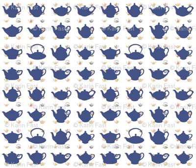 blue teapots