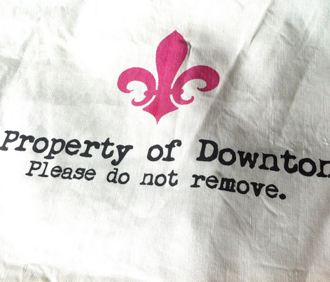 Property of Downton Tea Towel | Rose Pink