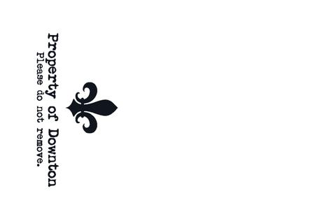 Property of Downton. Tea Towel. Fleur de Lis. Black & White. fabric by bohobear on Spoonflower - custom fabric
