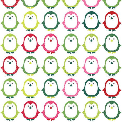Pretty Penguins fabric by ebygomm on Spoonflower - custom fabric