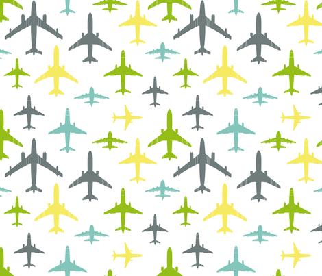 Full flight over white fabric by sinelinea on Spoonflower - custom fabric
