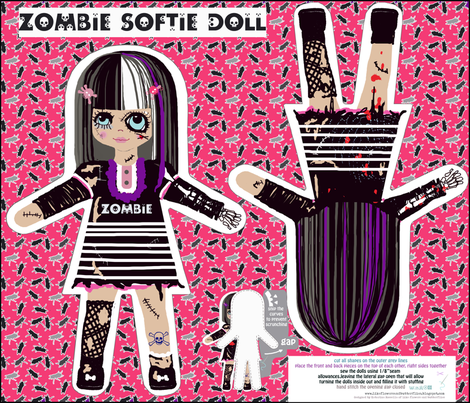 zombie doll new version fabric by katarina on Spoonflower - custom fabric