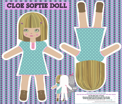 CLOE softie doll fabric by katarina on Spoonflower - custom fabric