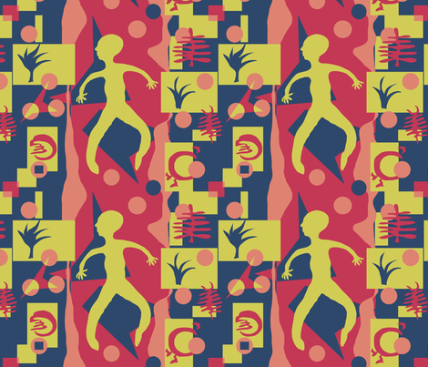 matisse-nasher fabric by linsart on Spoonflower - custom fabric