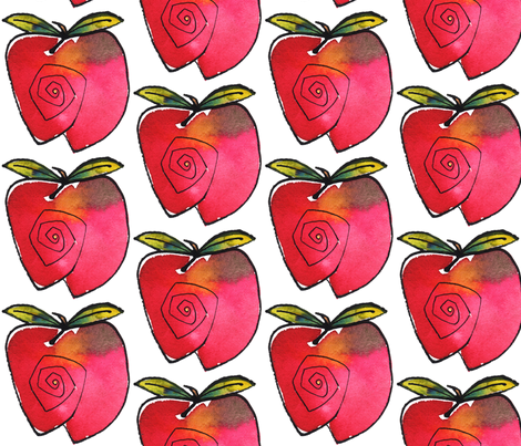 Apple fabric by whimsikate on Spoonflower - custom fabric