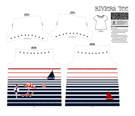 French Girl on the Riviera fabric by ninjaauntsdesigns on Spoonflower - custom fabric