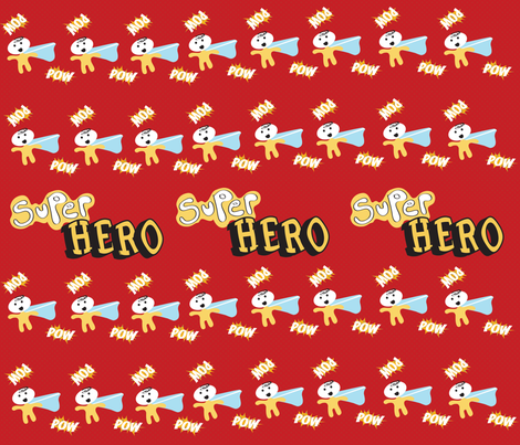 superhero fabric by mjanich on Spoonflower - custom fabric