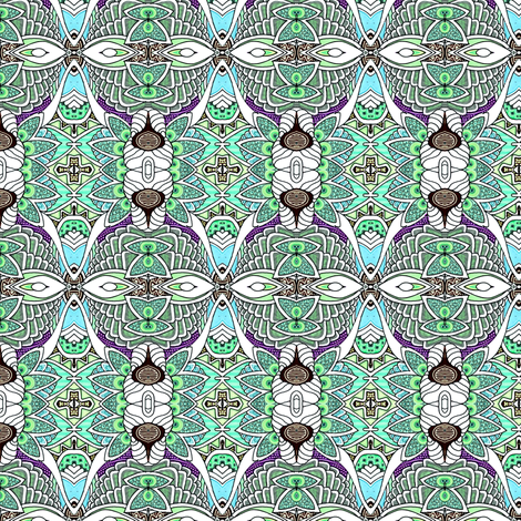 Tropical Squirm fabric by edsel2084 on Spoonflower - custom fabric