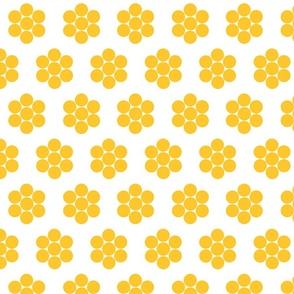 Dot Flowers Gold