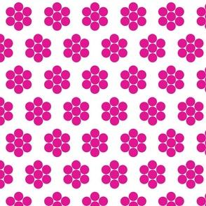 Dot Flowers Fuchsia