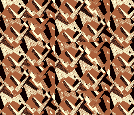 Navajo Brown  fabric by bettieblue_designs on Spoonflower - custom fabric
