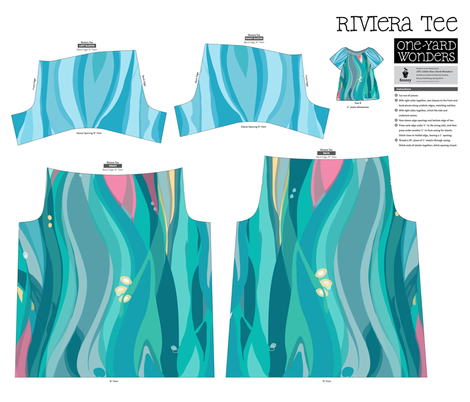 Seaweed Dream - Riviera Tee fabric by vdyej on Spoonflower - custom fabric