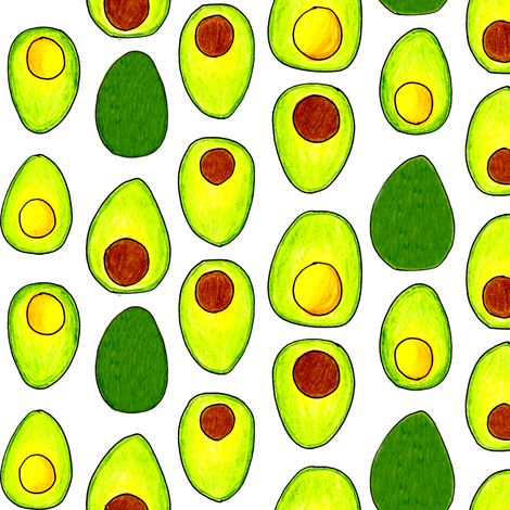 Almost Guacamole fabric by holly_helgeson on Spoonflower - custom fabric