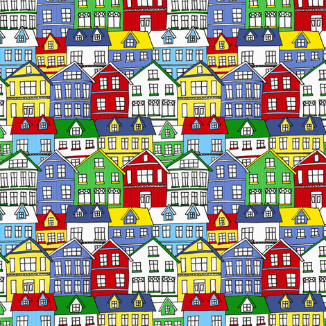 Reykjavik Houses fabric by holly_helgeson on Spoonflower - custom fabric