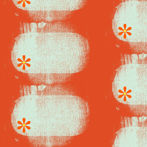 Little Daisy fabric by bettieblue_designs on Spoonflower - custom fabric
