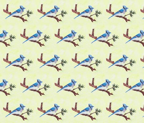 Blue Jay fabric by pmegio on Spoonflower - custom fabric