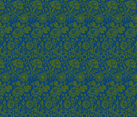 Avery blue and green fabric by flyingfish on Spoonflower - custom fabric