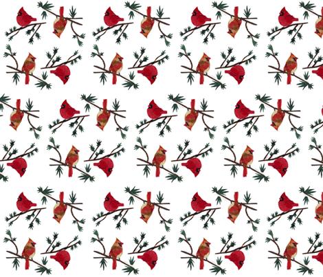 Mr and Mrs Cardinal fabric by pmegio on Spoonflower - custom fabric