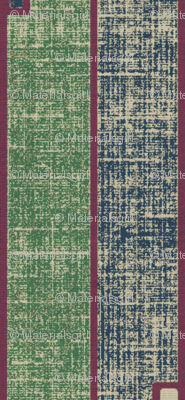 Ode to Deco - stone washed green, blue and plum stripes