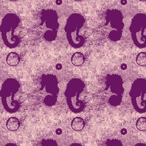 seahorse bubbles-pink&purple