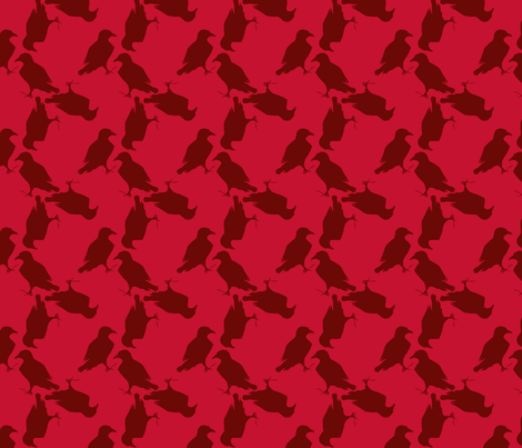 raven too red  fabric by trollop on Spoonflower - custom fabric