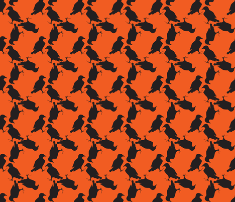 halloween raven fabric by trollop on Spoonflower - custom fabric