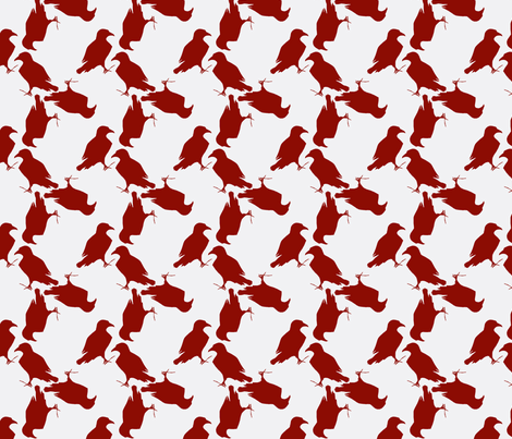 red raven fabric by trollop on Spoonflower - custom fabric
