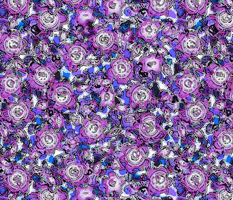 puddleflowerwbluepur1_40mergedlgfix fabric by wordfabric on Spoonflower - custom fabric