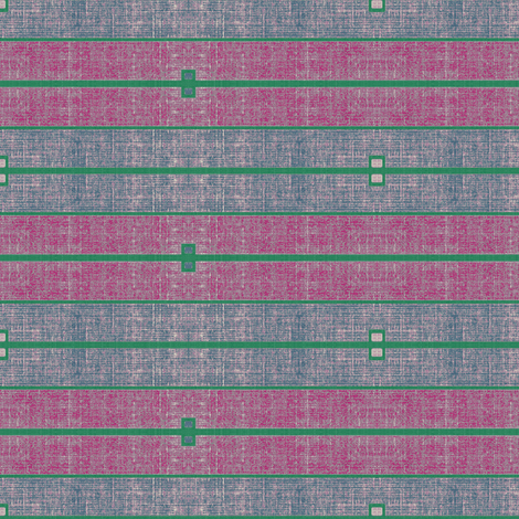 Ode to Deco - stone washed magenta, plum & green stripes fabric by materialsgirl on Spoonflower - custom fabric