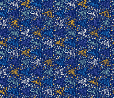 COLOURFUL_ARROWS_blu fabric by ginger&cardamôme on Spoonflower - custom fabric