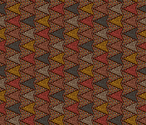 COLOURFUL_ARROWS_brown fabric by ginger&cardamôme on Spoonflower - custom fabric