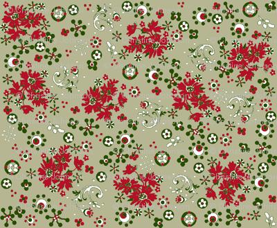 ditsy  flora / vintage christmas