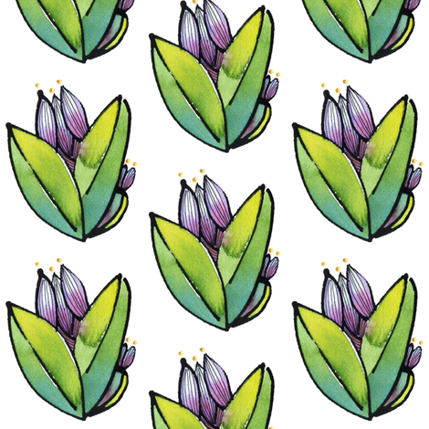 Purple Sage 2 fabric by whimsikate on Spoonflower - custom fabric