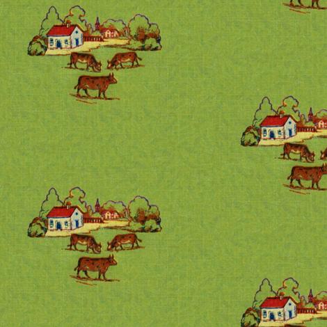 Happy cows fabric by ragan on Spoonflower - custom fabric