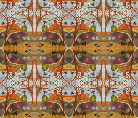 Dogs Garden fabric by shannoncrandall on Spoonflower - custom fabric