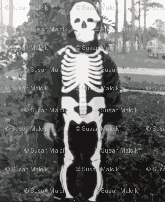 Skeleton costume, circa 1960