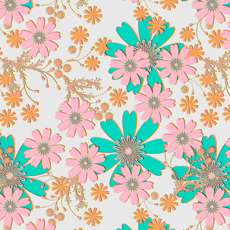 Meadow Bouquet fabric by joanmclemore on Spoonflower - custom fabric