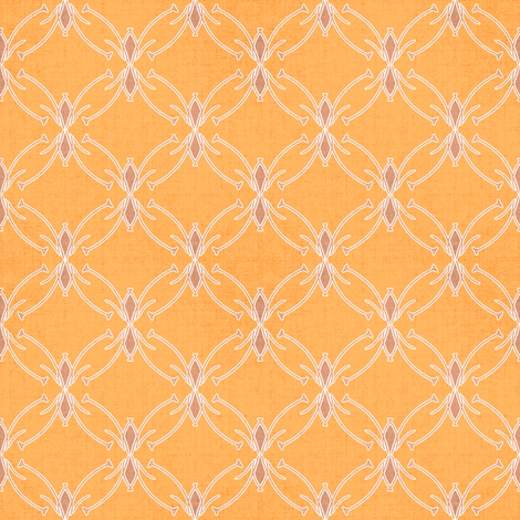 Mod Floral Sherbet Coordinate fabric by joanmclemore on Spoonflower - custom fabric