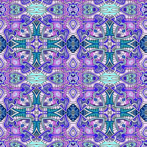 Another Stupid Cupid Variation (aqua/purple) fabric by edsel2084 on Spoonflower - custom fabric