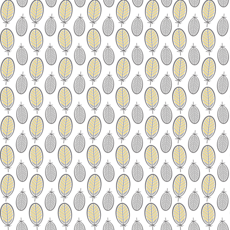 Chardonneret jaune fabric by studio_charlebois on Spoonflower - custom fabric