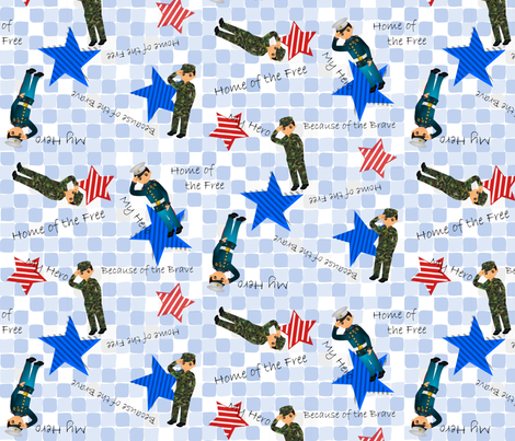 Heroes of Freedom fabric by daisymeadow on Spoonflower - custom fabric