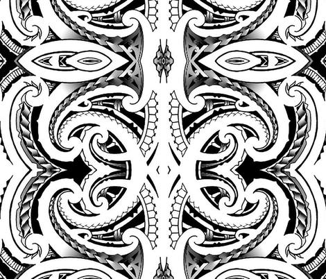 Tribal Koru fabric by flyingfish on Spoonflower - custom fabric