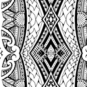 Maori Fabric Wallpaper Gift Wrap