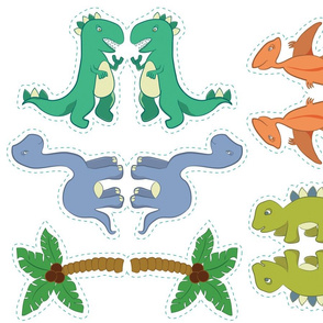 Dinosaur Nursery Mobile Pattern